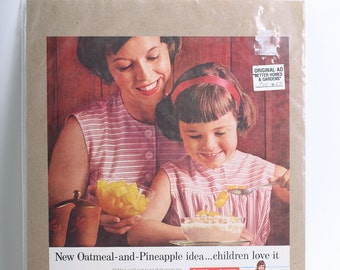 1962 Original Advertisement Quaker Oatmeal from Better Homes & Gardens Magazine