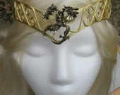 Khaleesi Inspired Three Headed Dragon Crown Tiara Gold Tone Daenerys Targaryen Game of Thrones Costume Cosplay Larp GoT Hobbit Elf