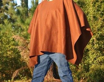 Chocolate Brown Fleece Poncho Make My Day Clint Eastwood Style