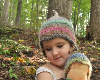 Knitting Pattern for Matching Doll and Child's Hat - Forest Pixie & me