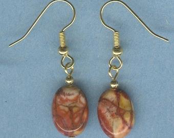 Birds Eye Rhyolite Gemstone Earrings