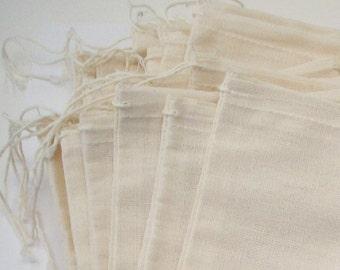 Muslin Bags 5 X 7 Ten Pack - Reusable Fabric Gift Bags - Jewelry Packaging