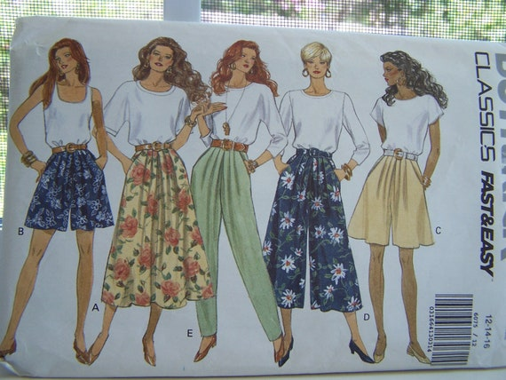 CLEARANCE Butterick 6075 Sewing Pattern -  Easy to Sew Skirt, Split Skirt & Pants, Plus Size Pattern