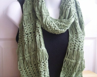 Crochet Pattern for Hairpin Lace and Shell Scarf /Wrap