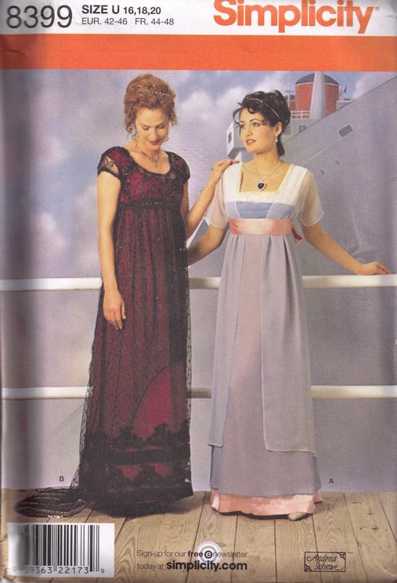 patron couture robe titanic