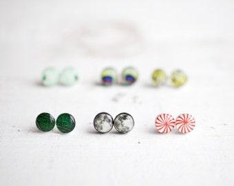 Stud earrings set - Set of 3 stud earrings - You pick the designs