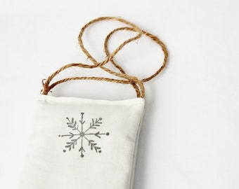 Snowflake Ornament, Fragrant Balsam Sachet Door Hanger, Scandinavian Christmas Decor