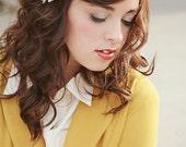 Shades of Grey and Gold hair clip, herringbone, grey, white, ivory, yellow gold, texture, shabby chic, women, girls