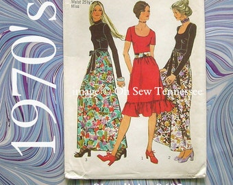 1970s Style Dress - Simplicity 9602 - Vintage Sewing Pattern