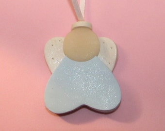 Baby's First Christmas ANGEL Ornament - Boy or Girl - Baptism Shower Christening
