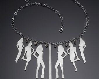 Sterling Silver Model Behavior Necklace