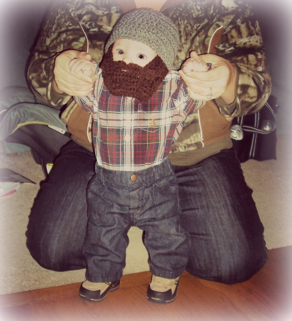 Lumberjack First Birthday, Lumberjack Party Supplies, Lumberjack Baby Shower, Baby Beard, Baby Beard Beanie, Baby Beard Hat, Gray Beard Hat