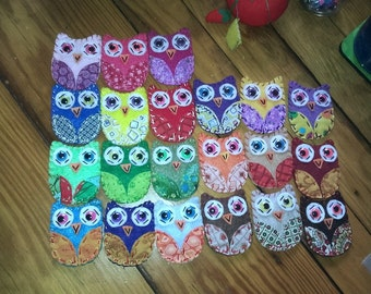 Silly Hoots Eco Felt Owl Magnets Owl Decor FUN FRIDGE STUFF