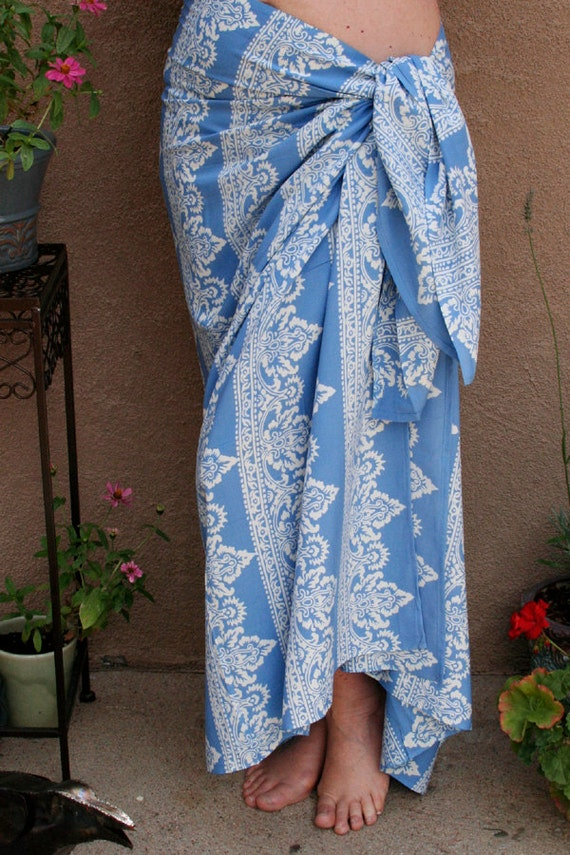 RESERVED FOR DIANE - Pareo - Beach Sarong Wrap Skirt - Bali Inspired Motif - Batik Sarong - Wrap Skirt - Womens Clothing - Sarong Coverup