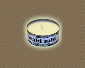 Wabi Sabi soy candle in recycled in