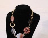 Set of 2 Bridesmaid necklaces - Coral