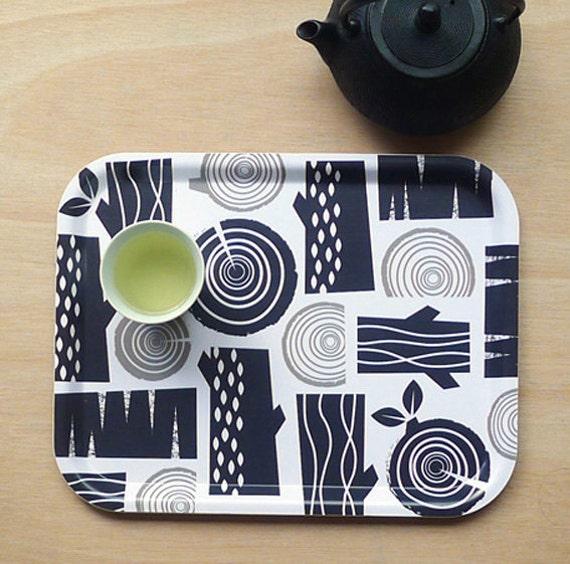 Logpile tea tray