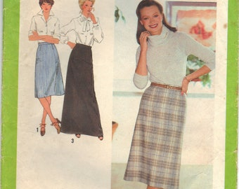 Vintage Simplicity 9070 Skirt Multiple Lengths Sewing Pattern Misses Size 12 Uncut