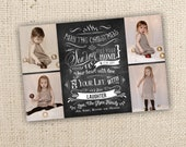Chalkboard Art - May The Christmas Season... Four Picture Design (4x6, 5x7 or costco 6x7.5) - Digital File