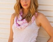 Infinity Ruffle Scarf Floral Pink - Infinity Scarf