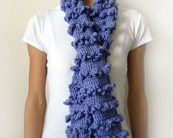 Loopy Ruffle Scarf - PDF Crochet Pattern - Instant Download