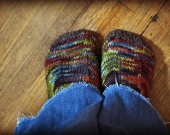 Slipper Pattern - Knitting Pattern - Womens Slippers - Kids Slippers - Baby Slippers - Mens Slippers - PDF pattern - Instand Download
