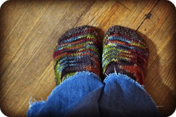 Slipper Pattern Knitting Pattern Womens Slippers Kids