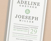 Printable Wedding Invitation Template   INSTANT DOWNLOAD   Mint Type   Word or Pages   Easy DIY   Editable Artwork Colors