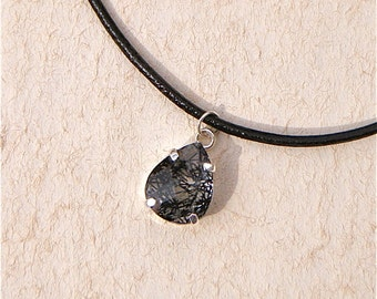 Tourmalineated Quartz Necklace