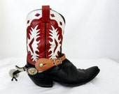Mens Texas Show Spurs - Engraved German Silver - Leather Straps - Rowl  - Jingle Bobs