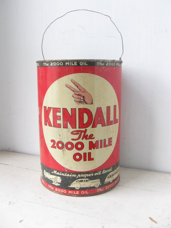 Items Similar To Vintage Kendall Motor Oil Can 1940 39 S On Etsy