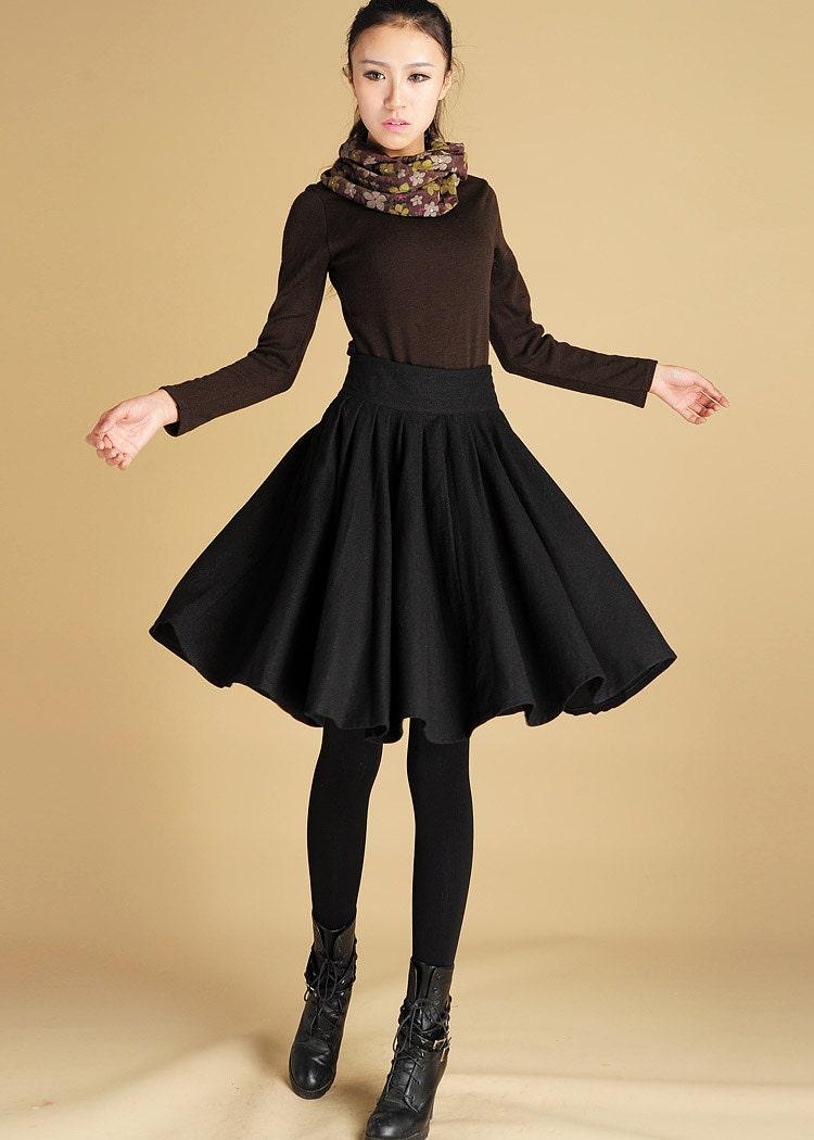 Wool Skirt Womens ClothingBlack skirt Midi Skirt skirt