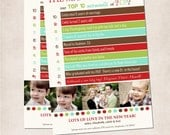 "YOU PRINT Custom ""Our Top Ten Moments of 2012"" Christmas/Holiday Photo Card & Letter in One"