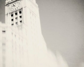 Black and White Photography, Wrigley, Chicago Wall Art,  fine art, urban photograph,  Chicago Landmark, Chicago skyline, landscape wall art