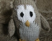 Owl toy Knitted owl toy knitted toy owl knitted owls knitted owl decoration - alpaca wool owl - little grey owl little brown owl little owl