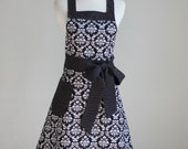 Apron Pattern PDF Women's Full and Half - The FLIRTY GIRL - Instant Download