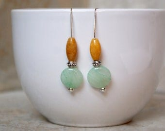Honey and Mint Earrings