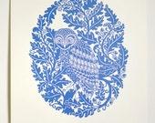 Owl in Oak (Dusk/Dawn) - Limited edition one-colour screenprint