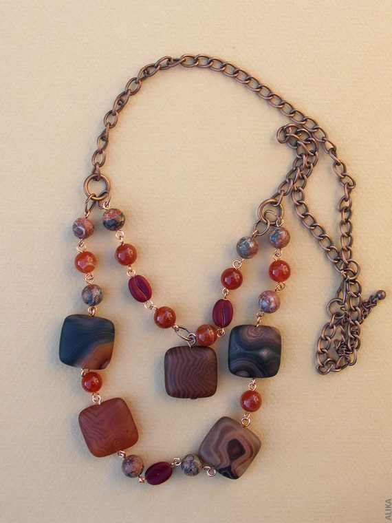 Coffee Copper Necklace Two