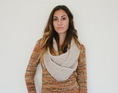Cream infinity scarf, tan infinity scarf, beige infinity scarf, natural, neutral, winter, spring, fall, circle scarf, fashion