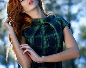 Lovely check dress made from a soft wool fabric