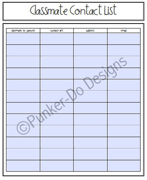 School Planner Binder  -FUN FONT- Student/Child Organization - Back to School - Instant Download