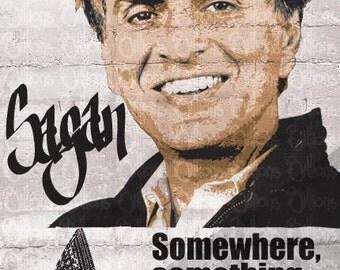 Carl Sagan Print 11x17 - Famous Seniors