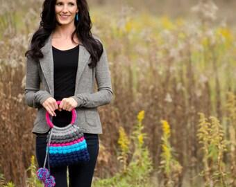 Small Striped Purse Crochet Pattern PDF