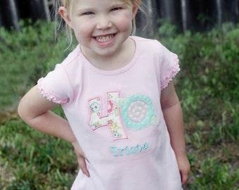 Girls Dress - Girls Dress Birthday - Girls Shabby Chic Dress - Tea Party Birthday Shirt - Shabby Chic Girls Shirt