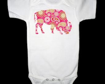 Pink and Green Paisley Buffalo Shirt or Bodysuit