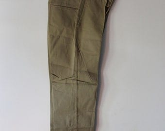Retro Utility Pants - McNair 1960s - Size 29x31 - Never Worn Original Tags Deadstock - Khaki Colored - Sanforized Boatsail Cloth