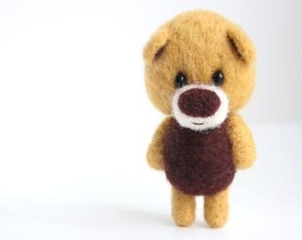 Felted miniature pocket bear