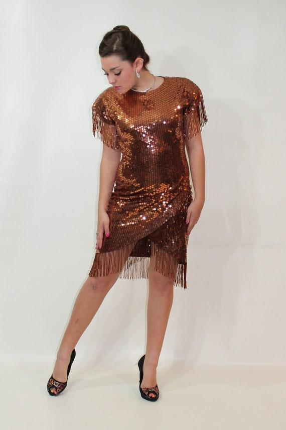 Copper Sequin Dress