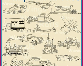 45 Transportation Vol. 3 Vector Clipart